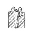hand drawn of gift boxe vector image vector image