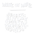 hand drawn with group of white alphabet letters vector image