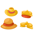 hat isolated on white background vector image vector image