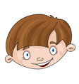 head of the boy vector image vector image