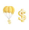hot air balloon with golden dollar