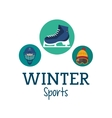 Ice skate and winter sport icon set design vector image