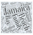 jamaica family vacation Word Cloud Concept vector image vector image