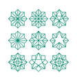 line art geometric abstract star icon collection vector image vector image
