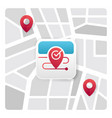 map app icon vector image vector image