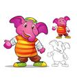 mascot elephane cartoon vector image vector image