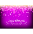 merry year leaf label star sparkle vector image vector image