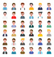 office business male people avatar character vector image vector image