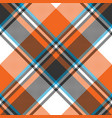 orange check plaid seamless fabric texture vector image vector image