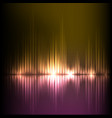 purple-yellow wave abstract equalizer background vector image vector image