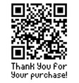 qr code sample with text thank you for your vector image vector image
