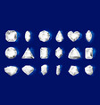 realistic diamonds realistic jewel stones vector image vector image