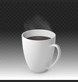 realistic steaming hot cup coffee vector image