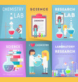 science posters set vector image