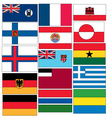 set 15 flags countries started with f and g vector image