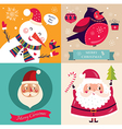 set christmas cards vector image vector image