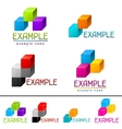 Set of abstract brands from cubes vector image vector image