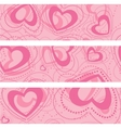 set of banners with hearts vector image vector image