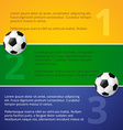 soccer game design vector image vector image