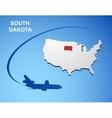 South Dakota vector image vector image