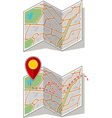 Sset of map booklet with way point vector image