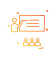 teacher student school icon design vector image