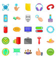 team building icons set cartoon style vector image