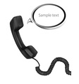 Telephone receiver and cord vector image