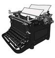 the vintage typewriter vector image