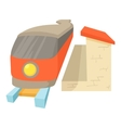 Train icon cartoon style vector image vector image