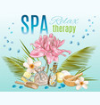 Tropic style spa treatment banner vector image