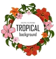 Tropical with place for your text vector image vector image