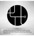 Ways of solution circle company symbol design vector image vector image