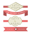 Wedding Tags and Banners vector image vector image