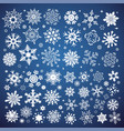white snowflakes icon on gradient background blue vector image