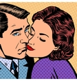 Woman hugging a sad man style pop art retro vector image vector image