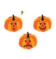 flat halloween pumpkin set isolated vector image