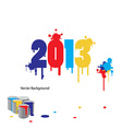 2013 graphic design vector image