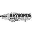 adwords adsense seo common denominator keywords vector image vector image