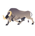 aggressive buffallo character running frenzied vector image vector image