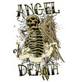 angel death vector image vector image