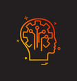 artificial brain circuit intelligence icon design vector image