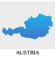 austria map in europe continent design vector image vector image