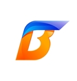 B letter blue and Orange logo design Fast speed vector image vector image