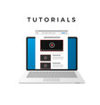 banner design video tutorials concept isolated vector image vector image