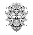 barong head vintage mascot logo vector image vector image