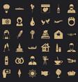 big wedding icons set simple style vector image vector image