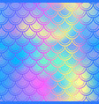 blue pink fish skin background with scale vector image vector image