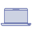 blue silhouette of laptop computer vector image vector image