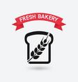 bread symbol bakery sign vector image vector image